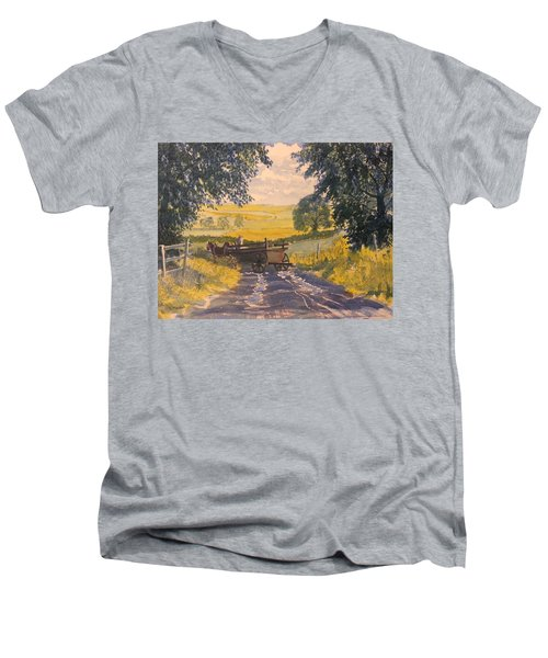 After Rain On The Wolds Way Men's V-Neck T-Shirt