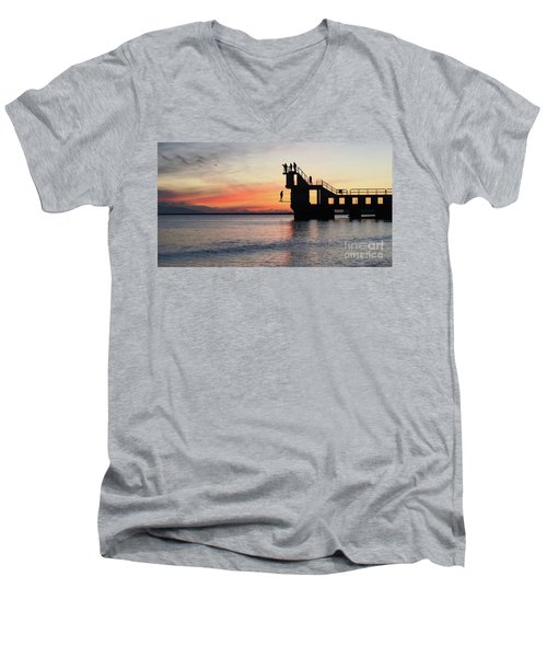 After Sunse Blackrock 3 Men's V-Neck T-Shirt