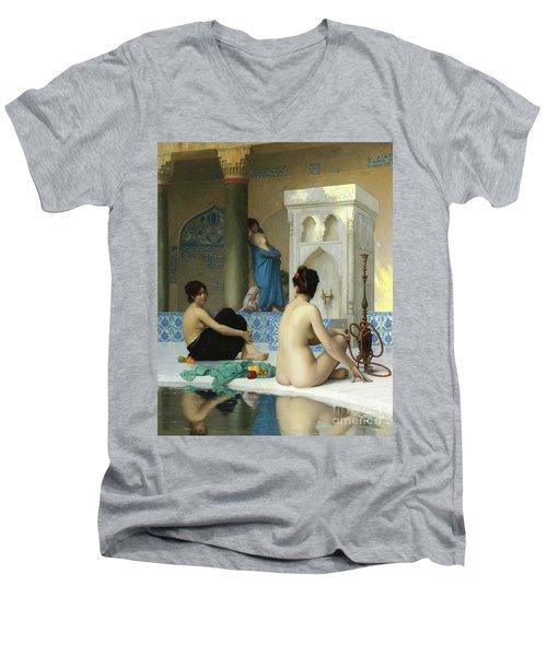 After The Bath, Jean Leon Gerome Men's V-Neck T-Shirt