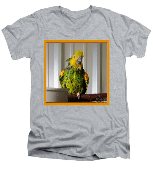 Men's V-Neck T-Shirt featuring the photograph After The Bath by Victoria Harrington