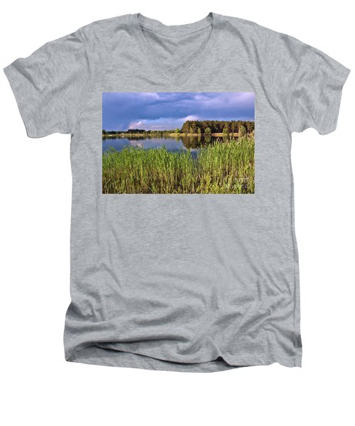 After The Rain Poetry Men's V-Neck T-Shirt