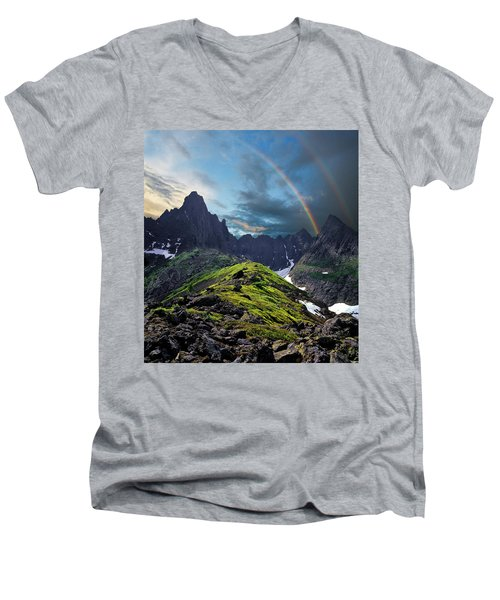 After The Rain Storm Men's V-Neck T-Shirt