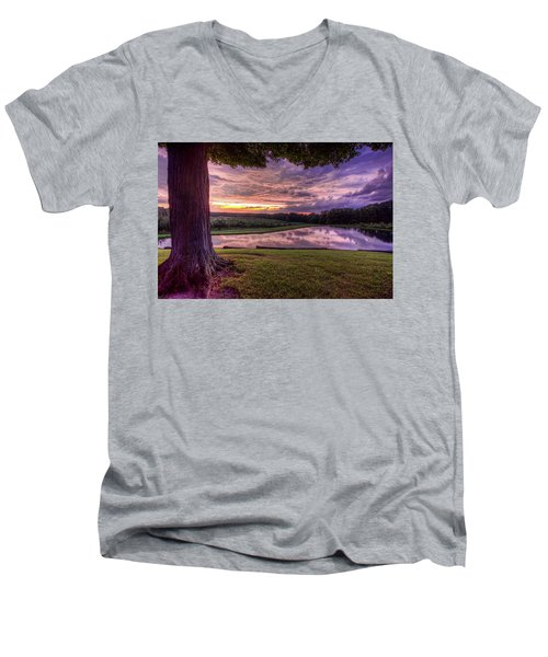 After The Storm At Mapleside Farms Men's V-Neck T-Shirt by Brent Durken