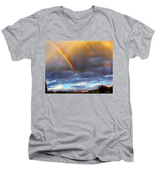 After The Storm El Valle New Mexico Men's V-Neck T-Shirt