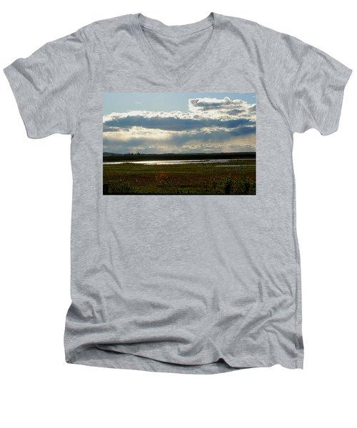 After The Storm Men's V-Neck T-Shirt by Nancy Landry