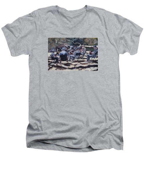 Afternoon Pickers Men's V-Neck T-Shirt by Richard Willson