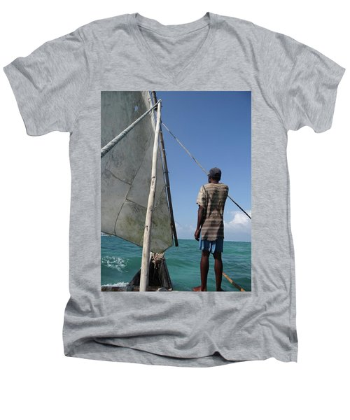 Afternoon Sailing In Africa Men's V-Neck T-Shirt by Exploramum Exploramum