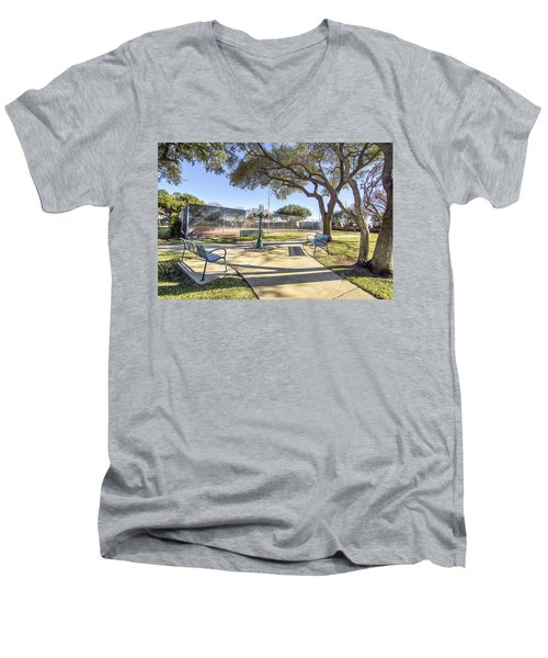 Afternoon Tennis Men's V-Neck T-Shirt by Ricky Dean