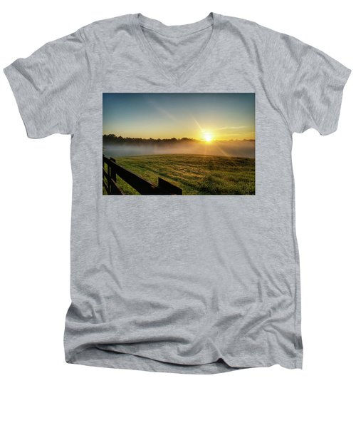 Afton Va Sunrise Men's V-Neck T-Shirt