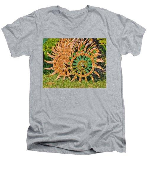Ag Machinery Starburst Men's V-Neck T-Shirt