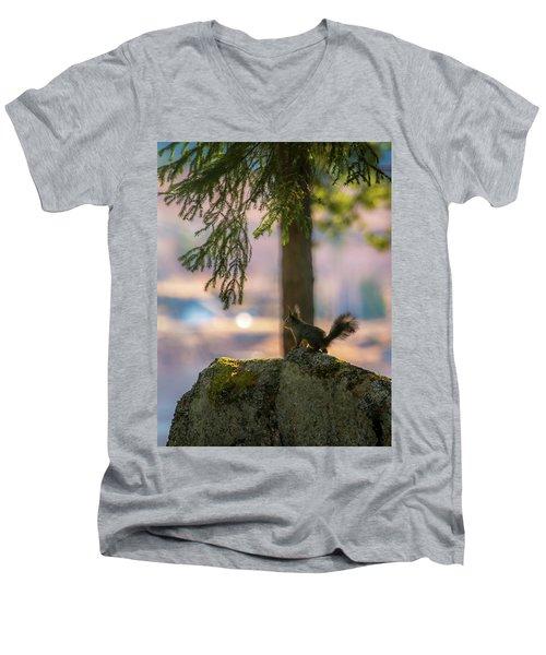 Against Brighter Times Men's V-Neck T-Shirt by Rose-Marie Karlsen