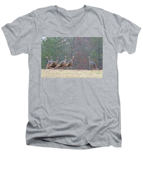 Against The Crowd 1287 Men's V-Neck T-Shirt by Michael Peychich