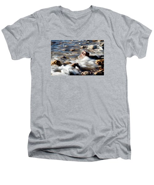 Men's V-Neck T-Shirt featuring the photograph Against The Elaments. by Gary Bridger