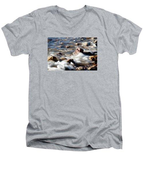 Against The Elaments. Men's V-Neck T-Shirt by Gary Bridger