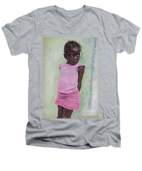 Against The Wall Men's V-Neck T-Shirt