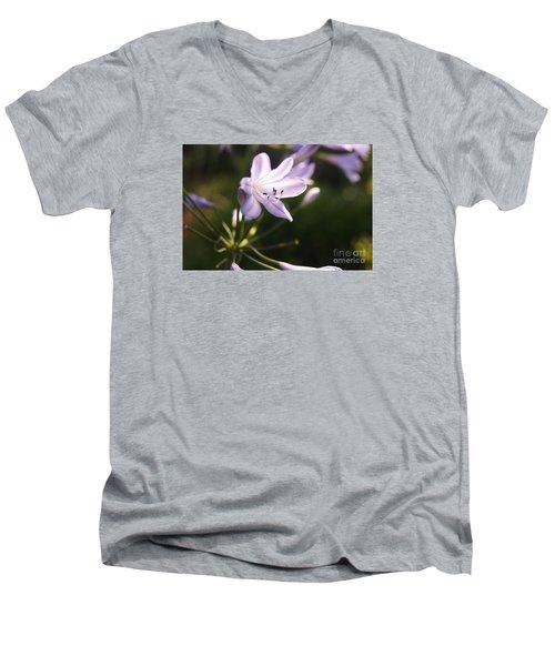 Agapanthus Men's V-Neck T-Shirt by Cassandra Buckley