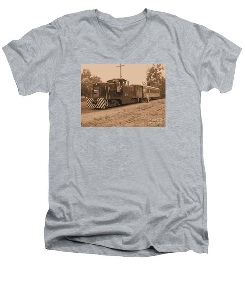 Aged Choo Choo  Men's V-Neck T-Shirt