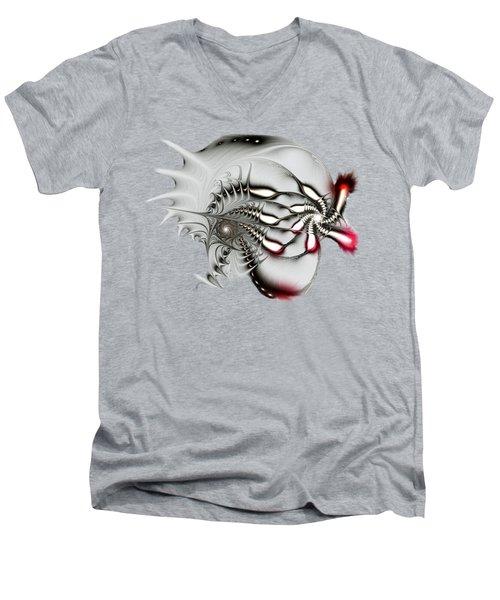 Aggressive Grey Men's V-Neck T-Shirt