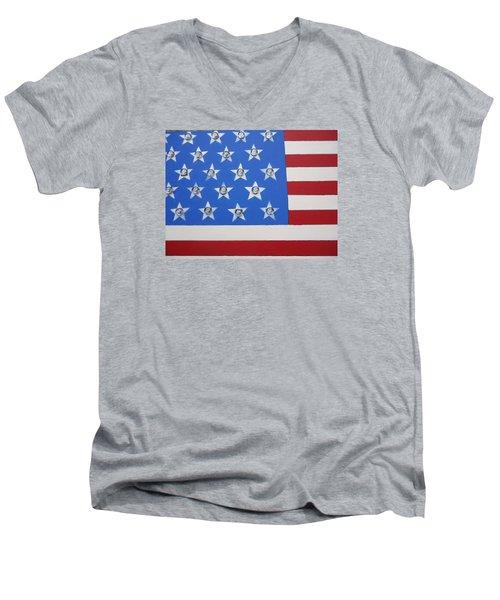 Agitate Men's V-Neck T-Shirt by Otis L Stanley
