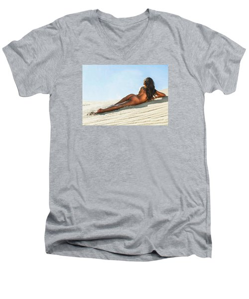 Aguasantas Men's V-Neck T-Shirt