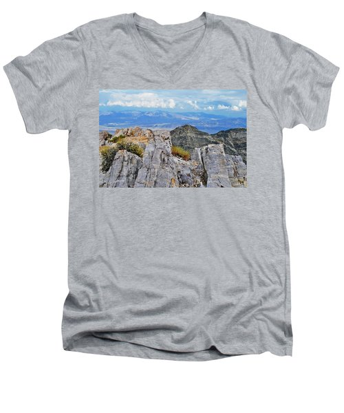 Aguereberry Point Rocks Men's V-Neck T-Shirt