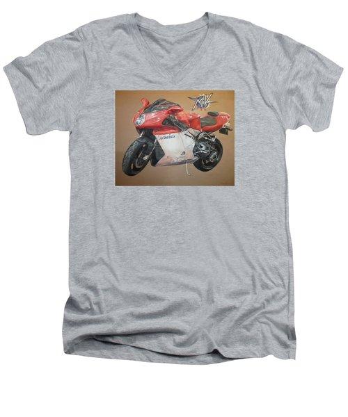 Agusta Men's V-Neck T-Shirt by Cherise Foster