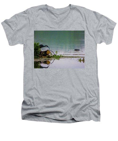 Ah Dubble-dawg Dare Ya Men's V-Neck T-Shirt