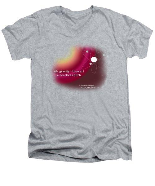 Ah, Gravity... Men's V-Neck T-Shirt by Paulette B Wright