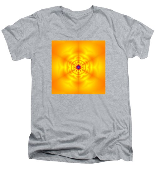 Men's V-Neck T-Shirt featuring the digital art Ahau 6 by Robert Thalmeier