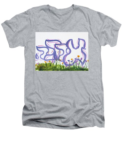 Ahava Nf20-145 Men's V-Neck T-Shirt