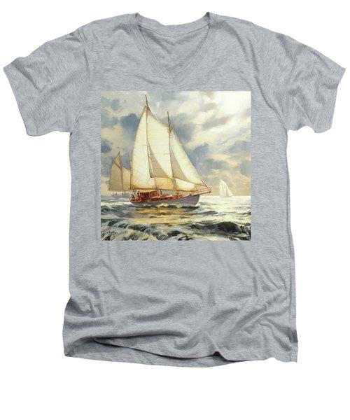 Ahead Of The Storm Men's V-Neck T-Shirt