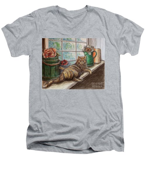Ain't Misbehavin'... Men's V-Neck T-Shirt by Kim Jones