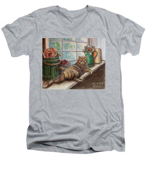 Ain't Misbehavin'... Men's V-Neck T-Shirt