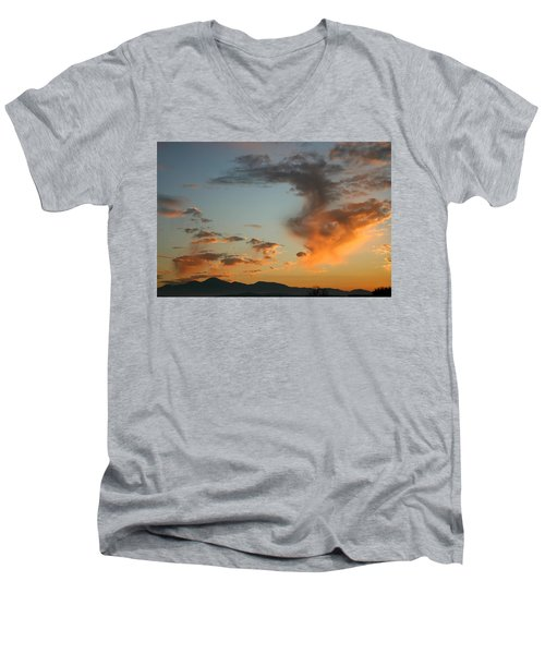Men's V-Neck T-Shirt featuring the photograph Air Ball Cough by Marie Neder