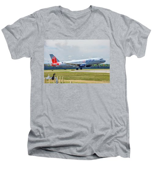 Airbus A320 Boston Strong Men's V-Neck T-Shirt