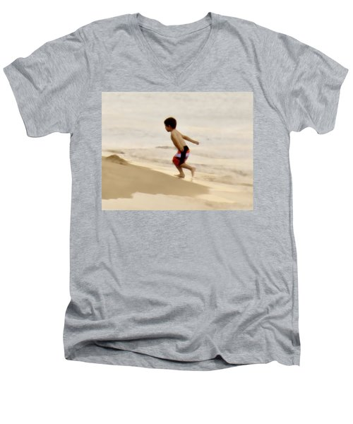 Airplane Boy Men's V-Neck T-Shirt