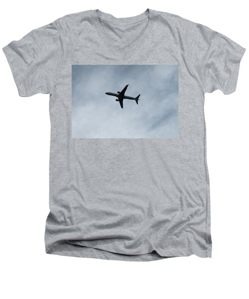 Airplane Silhouette Men's V-Neck T-Shirt