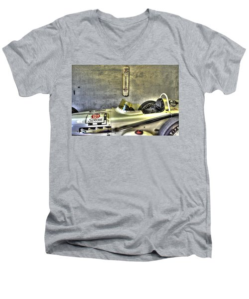 Aj Foyt 1961 Roadster Men's V-Neck T-Shirt by Josh Williams