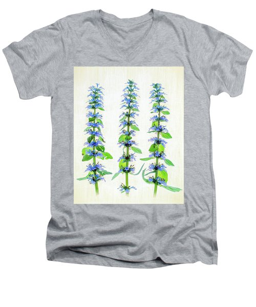 Ajuga Blooms Men's V-Neck T-Shirt by Robert FERD Frank