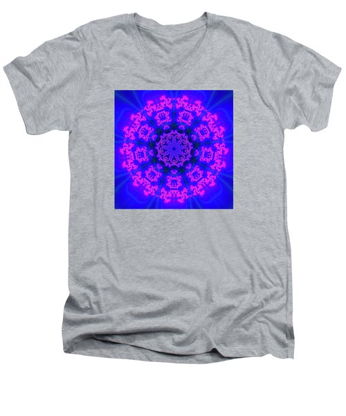 Men's V-Neck T-Shirt featuring the digital art Akbal 9 Beats 4 by Robert Thalmeier