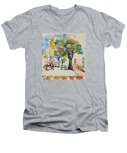Alamo Plaza Men's V-Neck T-Shirt
