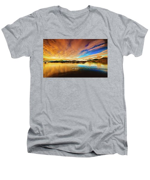 Alaska Men's V-Neck T-Shirt