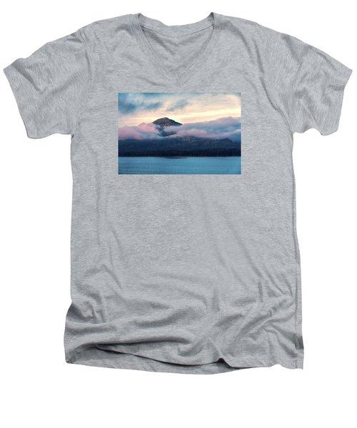 Alaska Dawn 2 Men's V-Neck T-Shirt by Lewis Mann