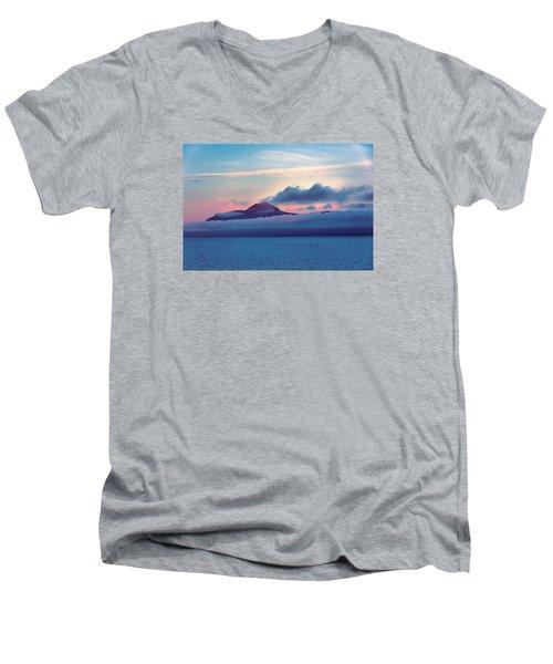 Alaska Dawn Men's V-Neck T-Shirt by Lewis Mann