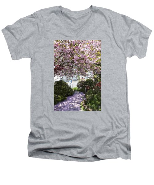 Alaska In Blossom Men's V-Neck T-Shirt