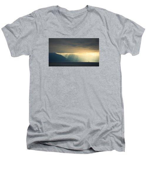 Alaska Inside Passage Under The Clouds Men's V-Neck T-Shirt
