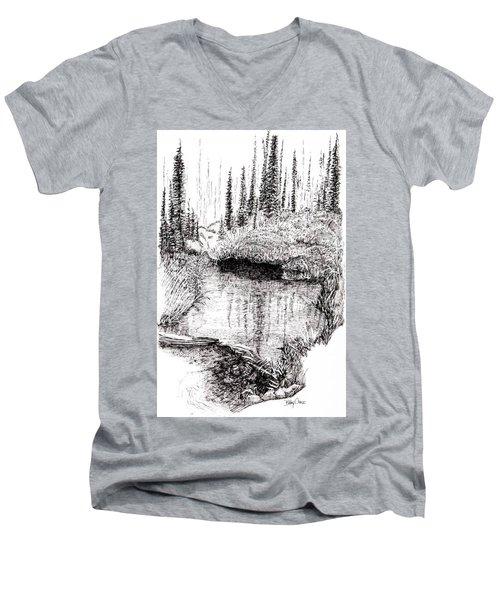 Alaska Pond Men's V-Neck T-Shirt
