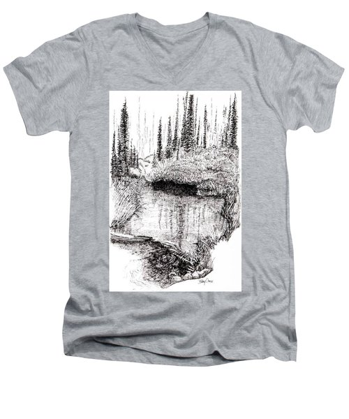 Alaska Pond Men's V-Neck T-Shirt
