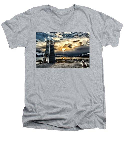 Alaska Starts Here Seward Alaska Men's V-Neck T-Shirt