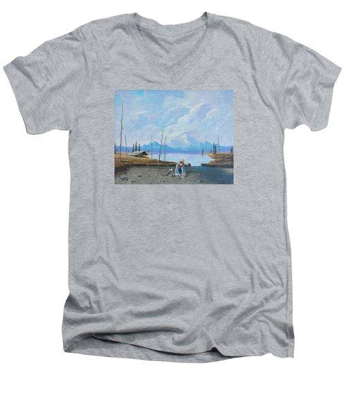 Alaskan Atm Men's V-Neck T-Shirt by Richard Faulkner
